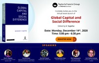 "Virtual Book Launch of ""Global Capital and Social Difference"""